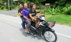 Family on scooter